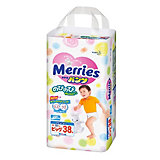 Трусики-подгузники для детей Merries, XL 12-22 кг, 38 шт.
