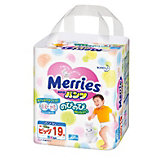 Трусики-подгузники для детей Merries, XL 12-22 кг, 19 шт.