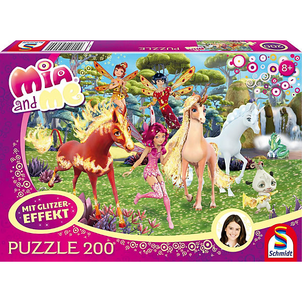 Glitzerpuzzle Mia and Me - In Centopia - 200 Teile