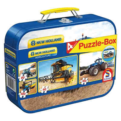 New Holland, Puzzle-Box 2x60, 2x100 Teile im Metallkoffer
