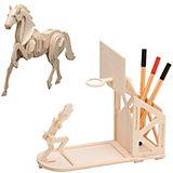 Holzbausatz-Set Basketball & Pferd