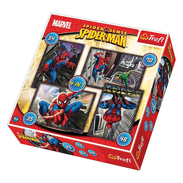 Puzzle-Set 4in1 - 35/48/54/70 Teile - Spiderman