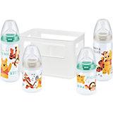 Flaschen Starterset FIRST CHOICE+, PP, Silikonsauger, Gr. 1, Winnie the Pooh, 4-tlg.
