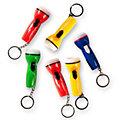 Schlüsselanhänger Mini-Taschenlampe, 8 Stück