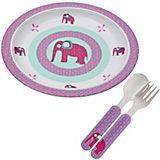 Kindergeschirr, 3-tlg. Set, Wildlife Elephant
