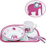 Kindergeschirr, 4-tlg. Set, Wildlife Elephant