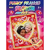 KSG Sequin Art Funky Frames Herzen