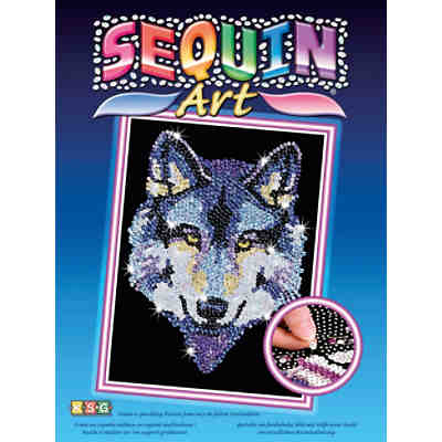 Sequin Art Blue - Wolf
