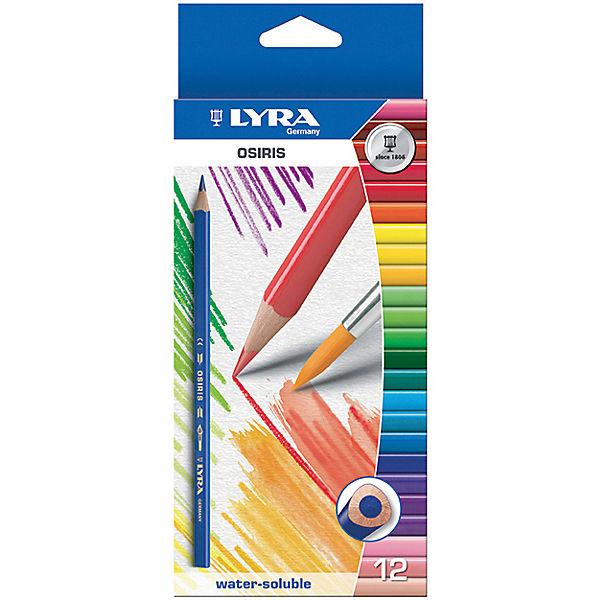 Цветные акварельные карандаши треугольной формы, 12 шт.