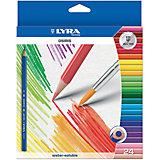 Цветные акварельные карандаши треугольной формы, 24 шт.