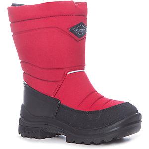 Зимние сапоги для девочки KUOMA - красный