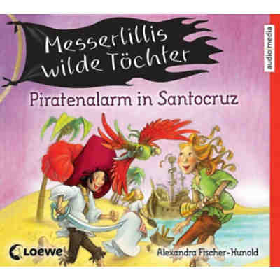 Messerlillis wilde Töchter: Piratenalarm in Santocruz, 2 Audio-CDs
