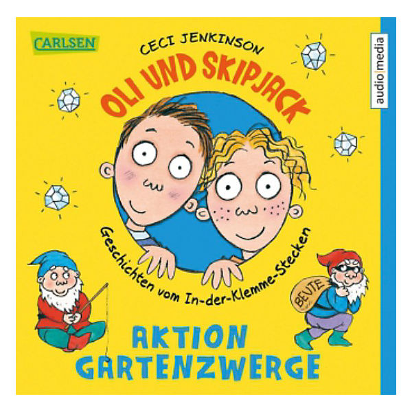 Oli und Skipjack - Aktion Gartenzwerge, 2 Audio-CDs