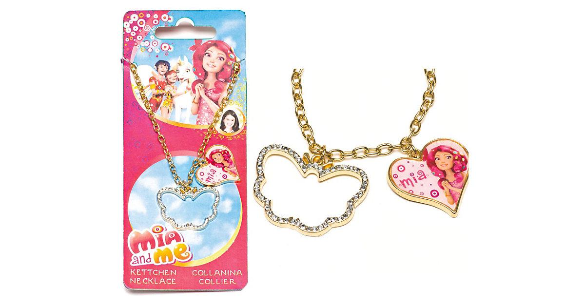 Halskette mit Herz- & Schmetterlingsanhänger Mia & Me Mädchen Kinder