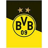 Borussia Dortmund Fleecedecke Schrägstreifen, 150 x 200 cm