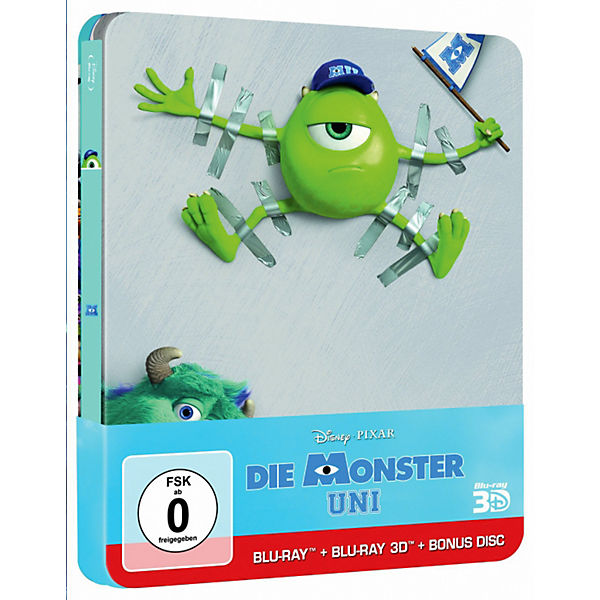 BLU-RAY Disney's - Die Monster Uni (3D Vers.) - limitierte Steelbook Edition