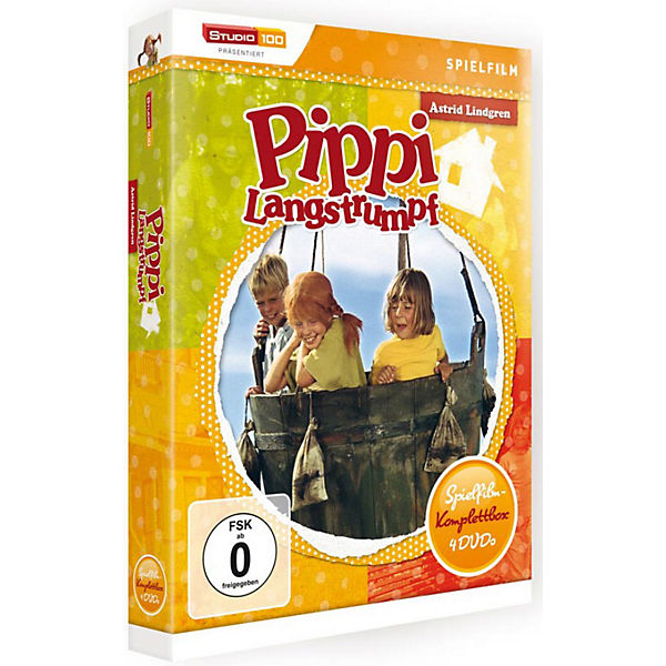 DVD Pippi Langstrumpf - Film-Box (4 DVDs)
