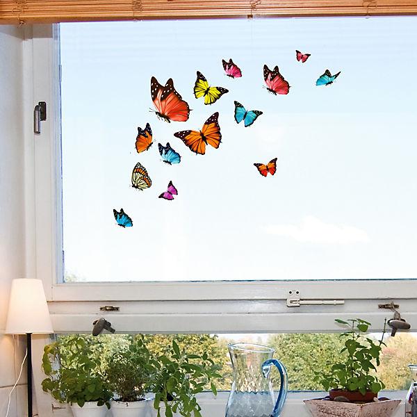 Fenstersticker schmetterlinge 16 tlg mytoys for Adesivi per vetri ikea