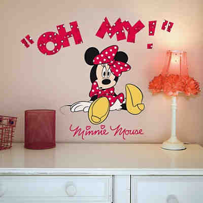 Wandsticker Minnie Mouse, Oh My, 10-tlg.