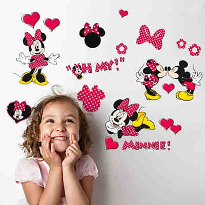Wandsticker Minnie Mouse, 18-tlg.