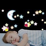Wandsticker Leuchtsterne, Smiling Stars, 21-tlg.