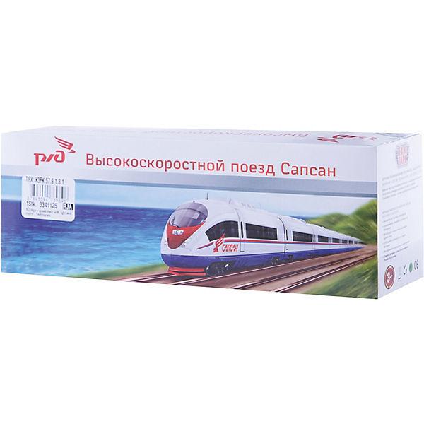 """Скоростной  поезд """"Сапсан"""" со светом и звуком, ТЕХНОПАРК"""