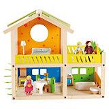 Кукольный домик  с мебелью и фигурками, Hape
