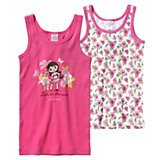 SCHIESSER Unterhemden Doppelpack Hawaii für Mädchen