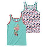 SCHIESSER Unterhemden Doppelpack für Mädchen Flamingo