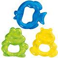 Kühl Beißring Frosch, Hippo, Fisch, 3er Set