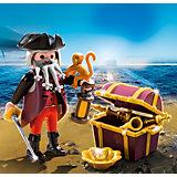 Экстра-набор: Пират и сундук с сокровищами, PLAYMOBIL
