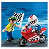 Экстра-набор: Мальчики с гоночным мотоциклом, PLAYMOBIL