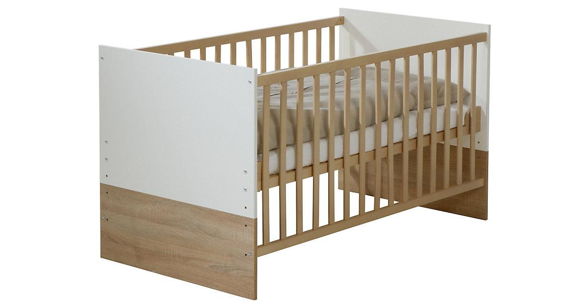 Kinderbett, Gabriella, Sonoma Eiche/Weiß, 70 x 140 cm weiß