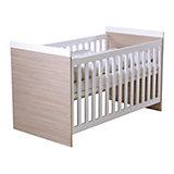 Kinderbett, Genova, Hochglanz Weiß/Pinie,  70 x 140 cm