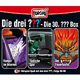 CD Die Drei ??? 030 - 3er CD-Box,Feuerturm,Nacht in..