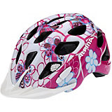 ALPINA Fahrradhelm Rocky pink-lightblue flowers 52-57
