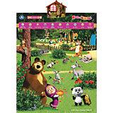 """Обучающий плакат """"В мире животных"""", Маша и Медведь"""