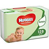 Детские влажные салфетки Huggies Ultra Comfort с Алоэ 2х64, 128 шт.