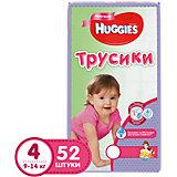 Трусики-подгузники Huggies 4  Mega Pack  для девочек, 9-14 кг, 52 шт.