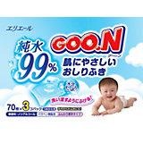 Влажные детские салфетки Goon, 3 х 70 шт.