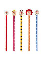 Bleistifte mit Tierköpfen, 6 Stück