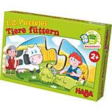 HABA 1, 2, Puzzelei - Tiere füttern