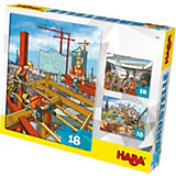 HABA 3 in 1 Puzzle-Set Baustelle