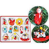 Набор деревянных ёлочных игрушек, 12 предметов, TUKZAR