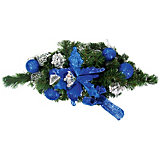 Украшение надверное хвойное, синие элементы, 40 см