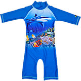 SWIMPY Baby Badeanzug mit UV-Schutz, blau