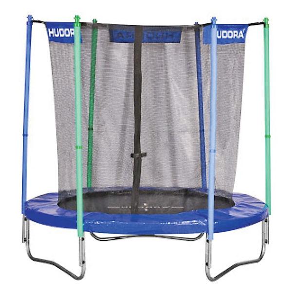 trampolin 200 cm blau mit sicherheitsnetz hudora mytoys. Black Bedroom Furniture Sets. Home Design Ideas