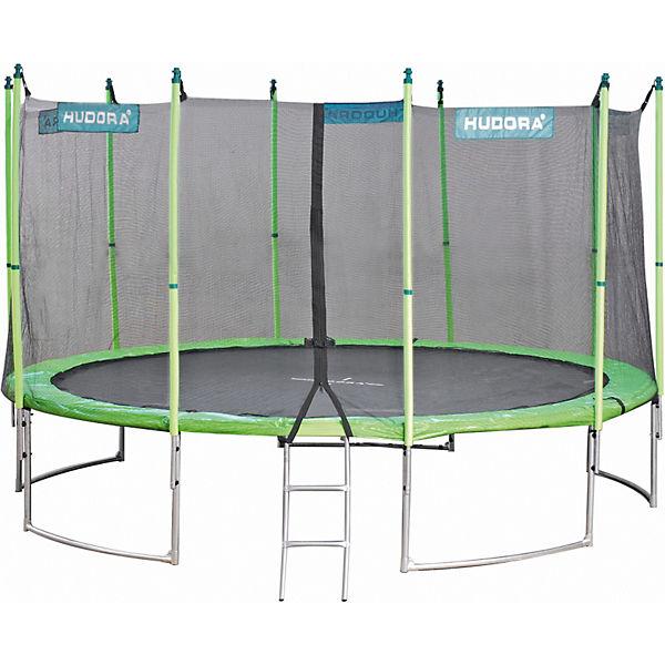 trampolin family 400 cm mit sicherheitsnetz hudora mytoys. Black Bedroom Furniture Sets. Home Design Ideas