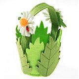 Kreativset Filz-Henkelkörbchen Blume Motiv 1