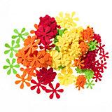 Filz-Streu-/Stanzteile Blumen/Blüten, 200 Stück